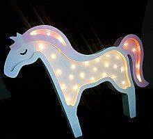 FPBS Einhorn Unicorn LED Nachtlicht Licht Babyzimmer Kinderzimmer Holz Dekoration Geschenke