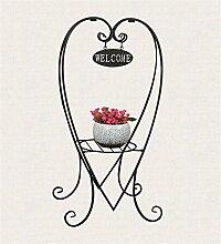 FPF Blumentreppe Kreatives Eisen Herzförmige Blumen-Rack Boden-Stil Mehrstöckige Balkon Wohnzimmer Interieur Blumentopf Rack / Pflanze Rack / Topf Regal Kreative Blumenregale