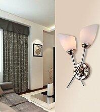 FPF Wandleuchten Doppel kreative moderne minimalistische Wohnzimmer Schlafzimmer Nachtwandlampe LED warme Gänge Wand (drei Farben) Möbel Wandleuchte ( stil : C )
