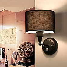 FPF Wandleuchten Kreative Moderne minimalistische Wohnzimmer Schlafzimmer Hotel Wandleuchte LED-Nachtglas Aisle amerikanische Wandleuchte (drei Farben, die gleiche Größe) Möbel Wandleuchte ( stil : A )