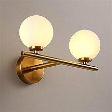 FPF Wandleuchten Moderne einfache LED Wandleuchten Europäische Glas Kugel Spiegel Vordere Licht Schlafzimmer Nachttisch Lampen Gang Kreative Wand Lampe Möbel Wandleuchte ( Farbe : A )