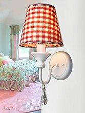 FPF Wandleuchten Nordic American Country Minimalist Schlafzimmer Nachttreppenkristalllampe (vier Stile Optional) Möbel Wandleuchte ( stil : A )