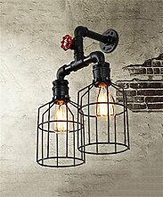 FPF Wandleuchten Retro industrielle Eisen Wand Lampe Cafe Bar Kleidung Shop personalisierte Beleuchtung kreative Wasser Rohr Wandleuchten Möbel Wandleuchte ( Farbe : B )