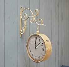 FPigSHS Wanduhren Wanduhr 3 Farben Glocke Uhr für