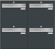 frabox Briefkastenanlage LUIS RAL 7016
