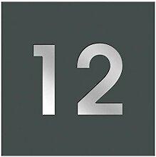 Frabox® Hausnummernschild LENS in anthrazitgrau
