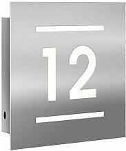 Frabox® LED-Edelstahl Hausnummer -