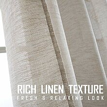 Fragrantex Leinen-Vorhang, leicht, 213,4 cm,