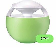 FragrantSpace®- Portable USB Luftbefeuchter Mini Small Silent Nachschub an Bord Haushalt Schlafzimmer Büro Schreibtisch Schwangere Frauen Babys Nachtlicht ( Farbe : Grün )