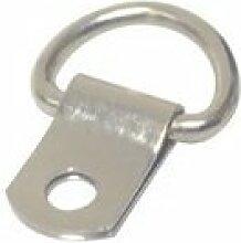 Frame Company vernickelt Single Loch D-Ring für