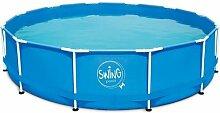 Frame-Pool Schwimmbecken Swing blau 457 x 122 cm