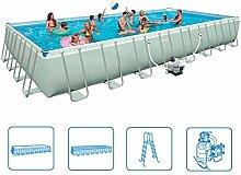 Frame Pool Set Ultra Quadra III (9,75 x 4,88 x 1,32 m, grau)