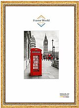 Frame World FW40 Echtholz Bilderrahmen DIN A4 für