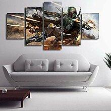 Frameless 5 Leinwand Malerei Druck Home Room Art
