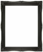 Frames by Post Große 5,1cm Schwarz Shabby Chic