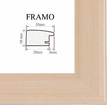 FRAMO 35 Bilderrahmen 50x75 cm, Farbe: Ahorn,