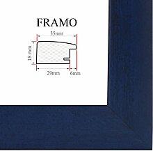 FRAMO 35 Bilderrahmen 50x75 cm, Farbe: Dunkelblau