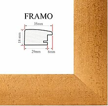 FRAMO 35 Bilderrahmen 50x75 cm, Farbe: Gold