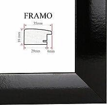 FRAMO 35 Bilderrahmen 50x75 cm, Farbe: Schwarz