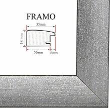 FRAMO 35 Bilderrahmen 60x40 cm, Farbe: Grau