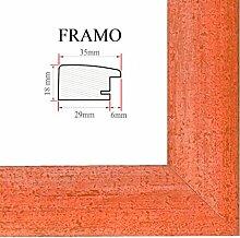 FRAMO 35 Bilderrahmen 60x40 cm, Farbe: Terracotta,