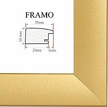 FRAMO 35 Bilderrahmen 61x91 cm, Farbe: Gold