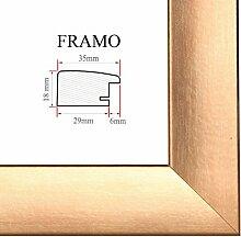 FRAMO 35 Bilderrahmen 90x60 cm, Farbe: Kupfer,