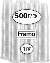 Framo, transparente Kunststoffbecher, für jeden