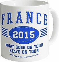 France Tour 2015 Rugby Becher, Weiß