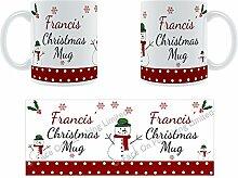 Francis'Weihnachten Becher, Tasse, Keramik,