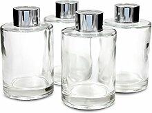 Frandy House Glas-Diffusor-Flaschen mit Deckel, 4