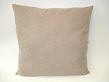 Frank Flechtwaren, 337261-6: Trendy Sofa-Kissen in Orange, Türkis und Beige in 40x40cm oder 60x60cm aus Polyester
