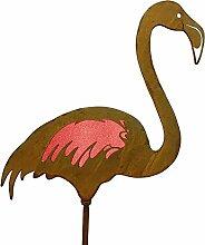 Frank Flechtwaren Gartenstecker Flamingo