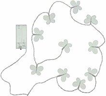 FRANK FLECHTWAREN LED-Lichterkette Schmetterling