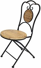 Frank Flechtwaren Metall-Stuhl Gartenlaube