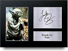 FRANK oz unterzeichnet A4bedruckt Autogramm,