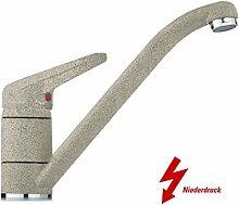 Franke 751 Cashmere Niederdruck-Armatur Einhandmischer Festauslauf Granit Grau