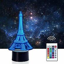 Frankreich Eiffelturm Nachtlichter für Kinder, 3D
