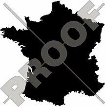 FRANKREICH Französische Kartenform, Silhouette