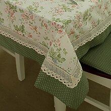 Französisch Pastoral Stil Blumen und Punkte Patchwork-Gewebe Tischdecke Tischdecke Tischdecke, kann Größe Angepasst Werden, 140 x 140 cm