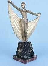 Französische Art Deco Bronze Statue von Henri
