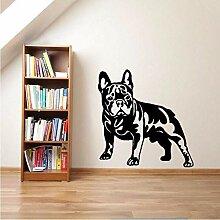 Französische Bulldogge Vinyl Wandkunst Aufkleber