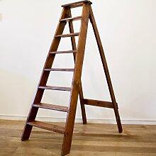 Französische Holz Leiter, 1930er