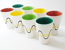 Französische Keramikbecher von André Baud für