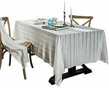 Französische Retro gestreifte Spitze Tischdecke