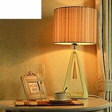 Französische Tischlampe/Koreanisch,Schlafzimmer,Bett,Nordeuropa,Einfache Tischleuchte/Neue Klassische Lampen/Wohnzimmer-tischleuchte-A
