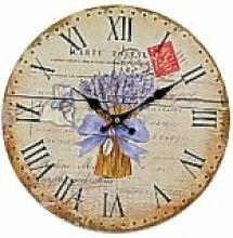 Französischer Landhausstil Wanduhr mit Lavendel carte Postale stil