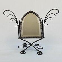 Französischer Tischspiegel aus Schmiedeeisen,