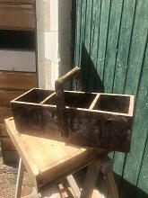 Französischer Vintage Holzkorb