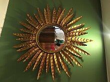 Französischer Vintage Sonnen Spiegel in Gold,